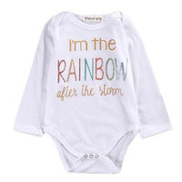 ( Im the rainbow after the storm ) Girls Romper Onesuit