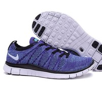 """NIKE"" Women's Trending Fashion Knitting Casual Purple Sports Shoes White Soles"