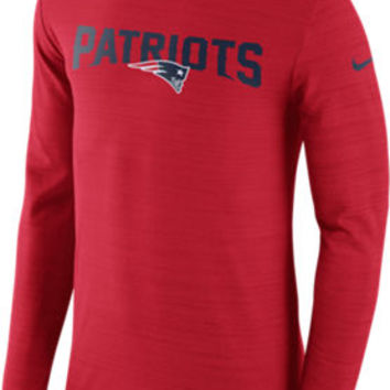 Men's Nike New England Patriots Nfl Long-sleeve Poly Player T-shirt | Finish Line