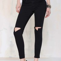 UNIF Burn Cropped Skinnies