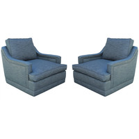 Pair of Monteverdi Young Swivel Chairs at 1stdibs