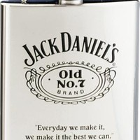 Jack Daniel's Flask Stainless Steal w/ black Old No.7