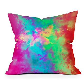 Caleb Troy Painted Clouds Vapors II Throw Pillow