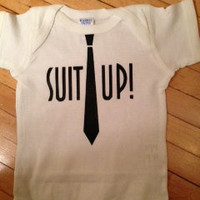 Funny How I Met Your Mother Suit Up Onesuit Bodysuit- Choose Your Color. Choose Your Size.