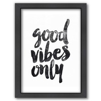 Americanflat ''Good Vibes Only'' Framed Wall Art