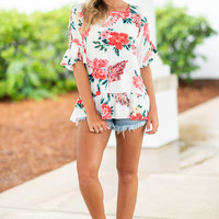 In The Tropics Top, Ivory