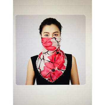 1 Fits All - Pink Hot - Face Mask Scarf