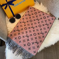 LV autumn and winter new letter jacquard women's long shawl scarf