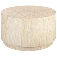 Mother-of-Pearl Round Coffee Table