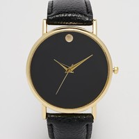 Reclaimed Vintage Black Strap Watch