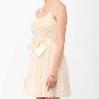Lace & Tulle Bow Dress