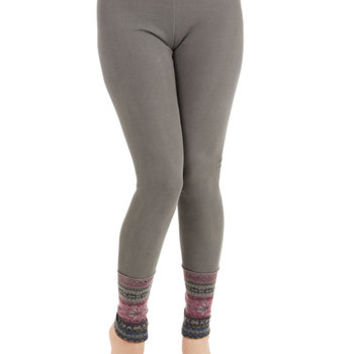 ModCloth Rustic Long Skinny Camping Accoutrement Leggings in Stone