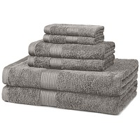 Fade-Resistant Cotton 6-Piece Bathroom Towel Set