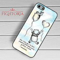 Winnie The Pooh Watercolor Quote - z321z for iPhone 6S case, iPhone 5s case, iPhone 6 case, iPhone 4S, Samsung S6 Edge