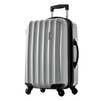 Olympia Titan 21 Inch Expandable Carry-On Hard Case Spinner Silver