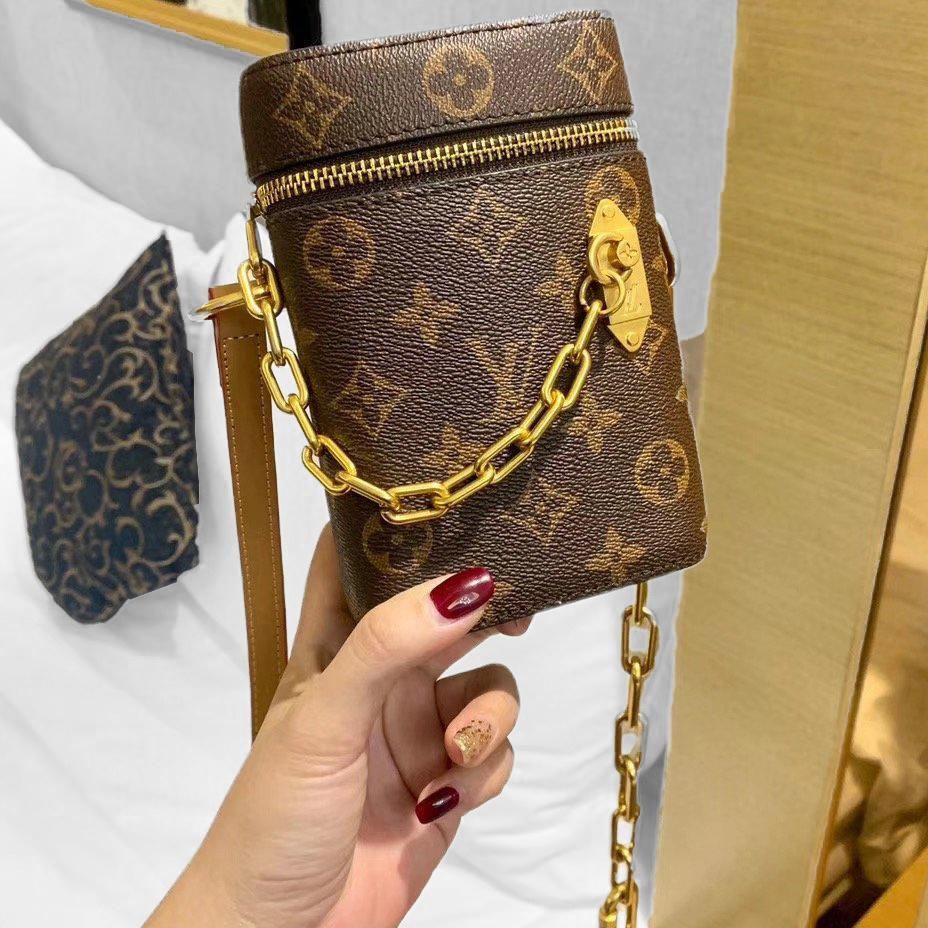 Image of Louis Vuitton LV Phone Bag Soft Leather Lockme Backpack Bucket bag