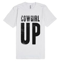 Cowgirl UP   Vintaged Tee-Unisex White T-Shirt
