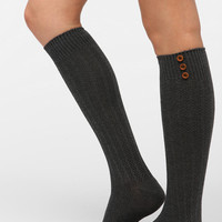 Urban Outfitters - Buttoned-Up Knee-High Sock