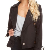 Double Breasted Short Trench Coat