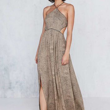Silence + Noise Cecilia Strappy Y-Neck Maxi Dress - Urban Outfitters
