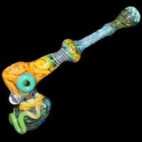 Glass Hammer Bubbler - Silver and Gold Fume - Colored Glass and Magnifiers - Grasscity.com