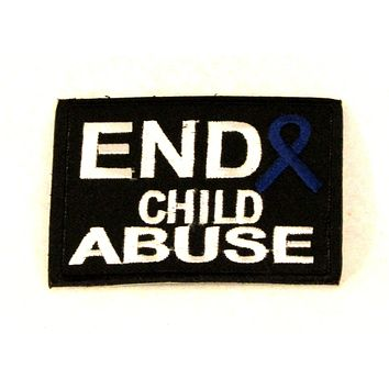 End Child Abuse Small Patch Sew on Iron on for Biker Vest SB828