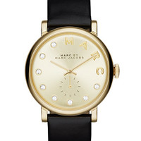Marc by Marc Jacobs Women's Baker Dexter Black Leather Strap Watch 36mm MBM1399