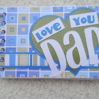 4x6 Chipboard Fathers Day Scrapbook Album