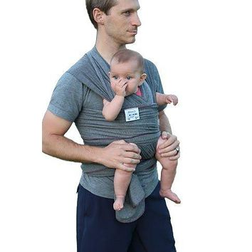 HAUL'A Baby Grey Baby Carrier | Ring Sling, Baby Wearing Wrap, Belly Binder & Maternity Belt |4-in-1