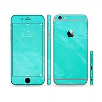 The Subtle Neon Turquoise Surface Sectioned Skin Series for the Apple iPhone6s Plus