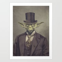 Sir Yoda Art Print by Terry Fan