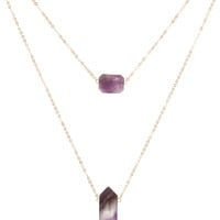 Seven Wonders Necklace - Purple