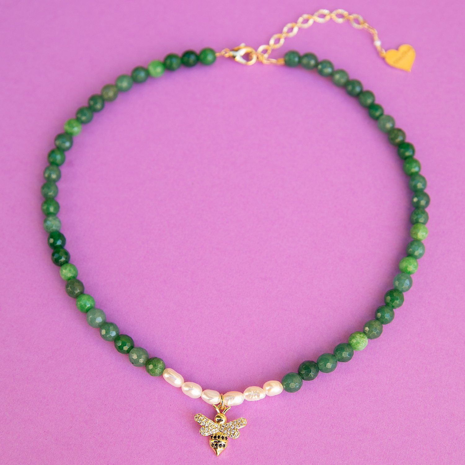Image of Pearl Bee Jade Necklace