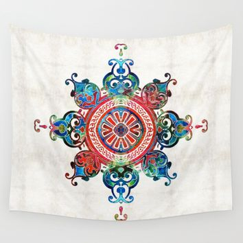 Colorful Pattern Art - Color Fusion Design 3 By Sharon Cummings Wall Tapestry by Sharon Cummings