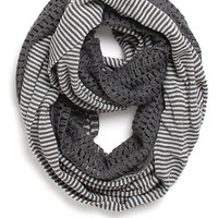 Kendall and Kylie Striped Popcorn Heavy Infinity Scarf at PacSun.com