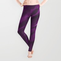 Purple Strokes Leggings by UMe Images
