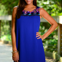 Geo Love Dress, Royal
