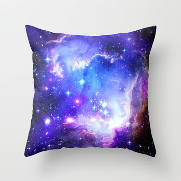 Galaxy Throw Pillow by WhimsyRomance&Fun