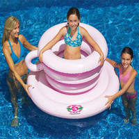 Swimline 90930 Tea Cup Spinner Swimming Pool Float For Kids Game Toy
