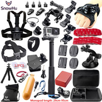 SnowHu For Gopro Accessories for gopro accessories set for gopro hero 5 hero 4 3 kit for Xiaomi yi Camera sjcam accessories GS38