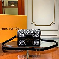 LV Louis Vuitton WOMEN'S MONOGRAM CANVAS SINCE 1954 SMALL  DAUPHINE INCLINED SHOULDER BAG