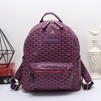 Goyard Women Leather Bookbag Shoulder Bag Handbag Backpack-1