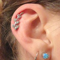 Crystal Vine Cartliage Earring Tragus Helix Piercing