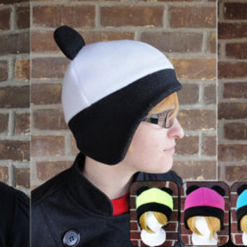 Panda Hat - Neon Fluorescent Orange,Yellow, and Bright Teal, Pink, Red, Blue and Purple - Adult & Baby Sizes  - Costume, Halloween