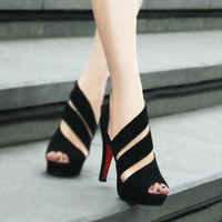 Lovely Pointed Peep Toe Pumps