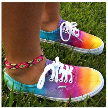 STUDDED VANS SALE Studded Tie Dye Vans by LivingYoungDesigns