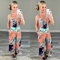 Popping in Paisley Jumpsuit
