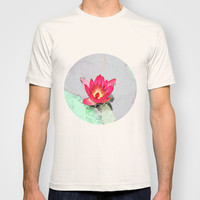 art style pretty pink waterlily flower  T-shirt by NatureMatters