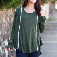 Cabin Knit Sweater {Olive}