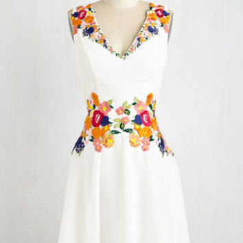 Mid-length Sleeveless A-line Queen of the Conservatory Dress